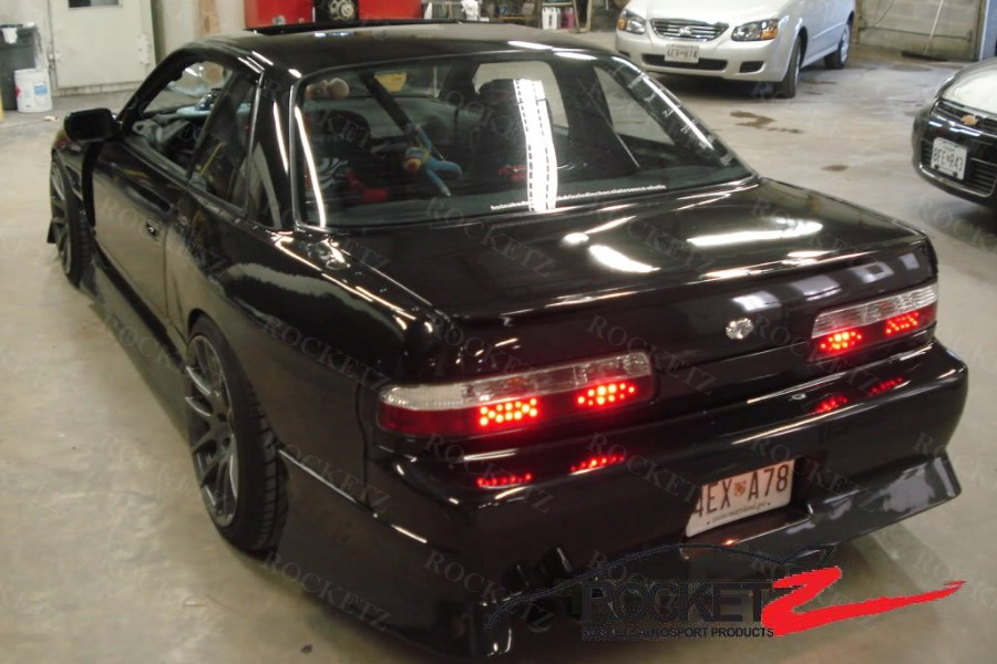 nissan s13 silvia m style 50mm wide rear fenders frp coupe rocketz autosport. Black Bedroom Furniture Sets. Home Design Ideas